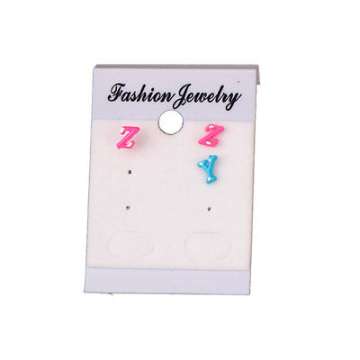 100 x Paper Hanging Cards Tags Earrings Jewelry Display Nylon White Retail Store