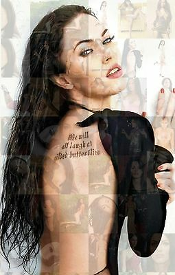 MEGAN FOX photo mosaic cm. 30x41 poster with a lot of sexy hot pics