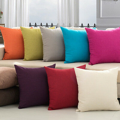 Pillow Case Linen Cushion Cover Decorative Square Home Throw Sofa Simple New