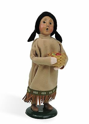Byers Choice Amer Indian Girl 2016 Open House Exclusive Very Ltd Signed JB