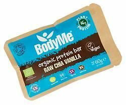 12 Packs of BodyMe Org Protein Bar - Chia Vanilla 60 g