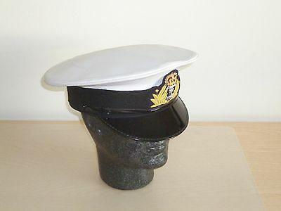 Royal Navy Officer's Service Cap & Badge. Size 58cm.