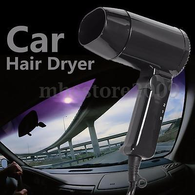Portable Foldable DC12V 216W Car Hair Blow Dryer Heat Blower Hot Wind For Travel