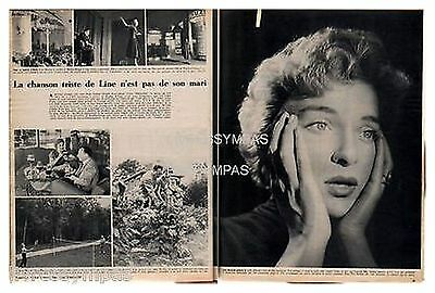 1954 : clipping (Ref PA 290) : CHANSON  : LINE RENAUD   (2 pages )