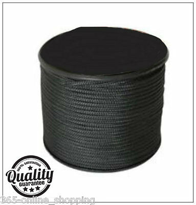 100m Army Black Paracord Reel 3mm Basha Tent Bivi Camping Guy Rope Para Cord
