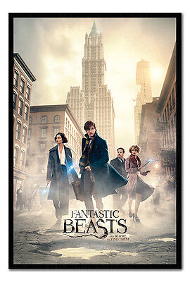 Framed Fantastic Beasts New York Streets Poster New