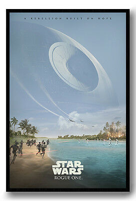 Framed Star Wars Rogue One Rebelion Built On Hope Poster New
