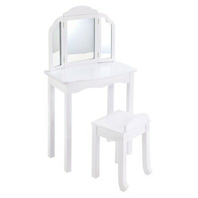Guidecraft Expressions Vanity & Stool, White