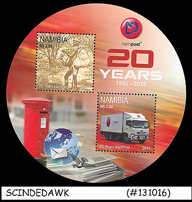 NAMIBIA - 2012 20yrs of NAMPOST - ROUND-SHAPED Miniature sheet MNH