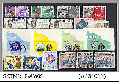 MINI COLLECTION of GIRLS GUIDE / SCOUT DIFFERENT COUNTRIES - 19V - MINT NH