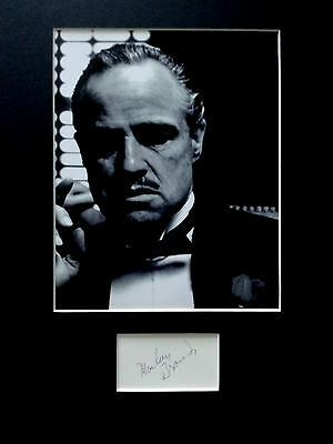 MARLON BRANDO signed autograph PHOTO DISPLAY  The Godfather
