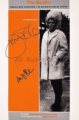 The Smiths - English Rock Band - Authentic Autographed 12x18 Photograph