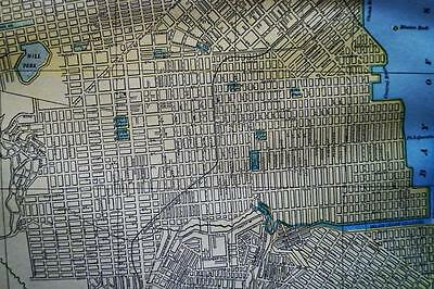 San Francisco & Denver City Street Map 1894 Vintage Cram's Atlas Page Vintage