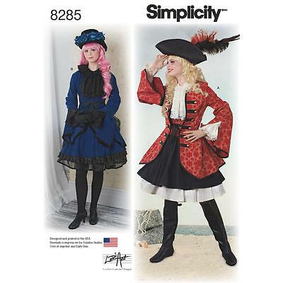 Simplicity Sewing Pattern Misses' Pirate Girl Steampunk Cosplay Costumes 8285