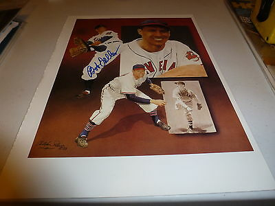 "Cleveland Indians Bob Feller Signed Christopher Paluso's 91/2"" X 13"" Print"