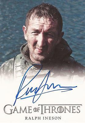 "Game of Thrones Season 4 - Ralph Ineson ""Dagmer Cleftjaw"" Autograph Card"