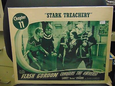 "Buster Crabbe Original Flash Gordon Conquers Universe 11x14"" Lobby Card #L8579"