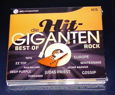 DIE HIT GIGANTEN BEST OF ROCK 3 CD´s  59 TITEL  NEU & OVP