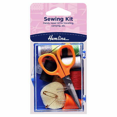 Hemline Sewing Kit, Handy Repair Kit for Travelling, Camping, etc