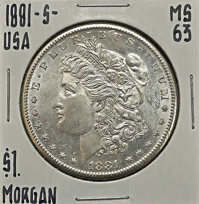 1881-s United States Morgan Dollar MS-63
