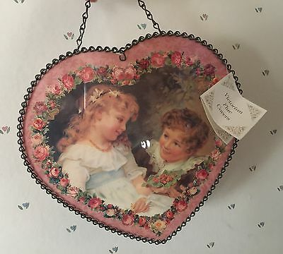 Victorian Heart Flue Cover New with Tag