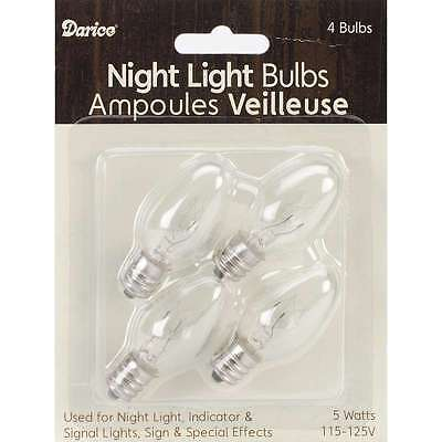 Candle Lamp Collection Night Light Bulbs-5 Watts 4/Pkg 082676185458