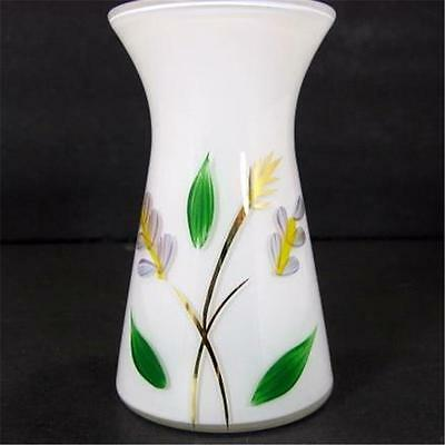 White Cased Glass 4in Gay Fad Vase