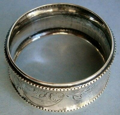 19th Century European .835 Silver Napkin Ring