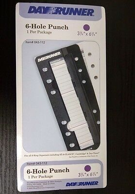 NEW 6 Hole Punch - Day Runner Day Planner 043-112 1 per package   RG48, DX15A/10