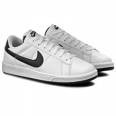 best service 90731 c0d46 Nike Tennis Classic Leather Mens Size Shoes Black White Casual 312495 129