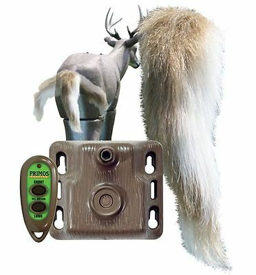 New Primos Waggin' Whitetail Electronic Deer Realistic Motion Tail Decoy 62606