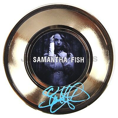 "Samantha Fish - Blues Singer-Songwriter - Authentic Autographed 7"" Gold Record"