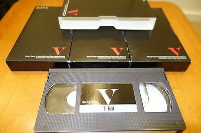 *VINTAGE* Lot of *4* SONY VHS T-160 8 HOURS video cassettes Star trek movie VCR