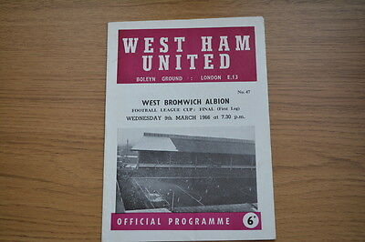 Programme Chelsea Vs Blackpool 1966-67 League Cup 3rd Round Replay