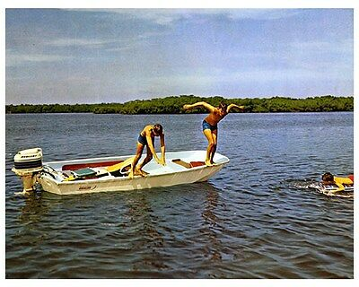 1971 Boston Whaler Sports Model Power Boat Factory Photo ud4237