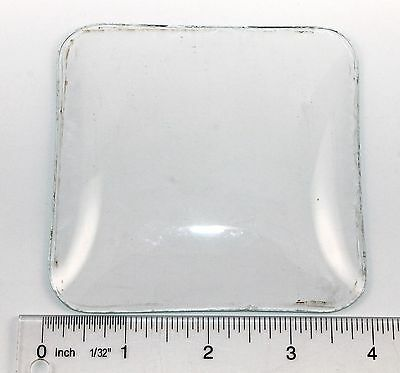 "Vintage 3-15/16"" Square Convex Clock Glass    Rr271"