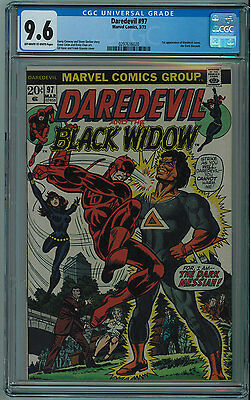 Daredevil #97 Cgc 9.6 2Nd Best Cgc Grade Off-White To White Pages 1973