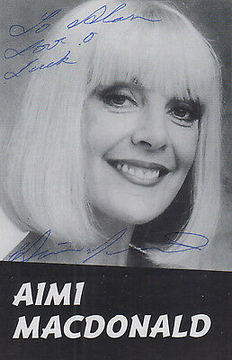 Aimi Macdonald Man About The House Hand Signed Cutting Photo