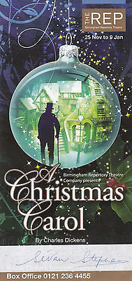 A Christmas Carol Scrooge Susan Stephen Birmingham Hand Signed Theatre Flyer