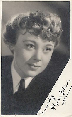 Glynis Johns Antique Signed Photo