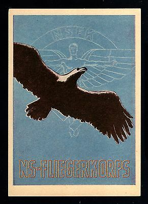 14574-German Empire-Military Postcard Flying Corp Nsfk.1942.wwii.deutsches Reich