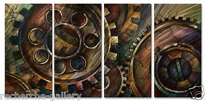 Metal Art Painting Abstract Wall Sculpture Methodical by Michael Lang