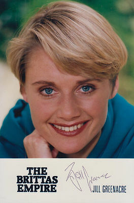 Jill Greenacre The Brittas Empire Vintage BBC Hand Signed Cast Card Photo