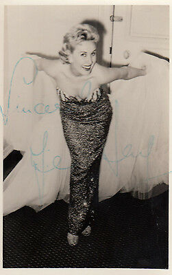 Jean Kent Sexy Posture Vintage Hand Signed Photo