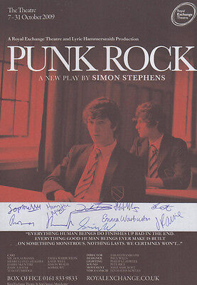 Punk Rock Manchester Violence Simon Stephens Play 10x Hand Signed Theatre Flyer