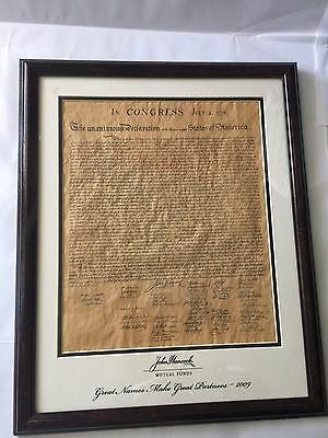 In CONGRESS July 4,1776 The UNANIMOUS DECLARATION 13 STATES of AMERICA ~ 2009