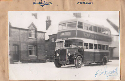 Southdown Antique Bus Driver Photo & Hollywood Star Hand Signed Autograph Page