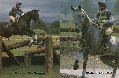 Virginia Leng 1986 Equestrian Champion Genuine Hand Signed Publicity Card Photo