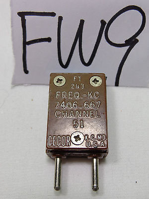 Cecor Radio Crystal Frequency Kc 7406.667  Communication  Ham Ft 243 Ch. 51