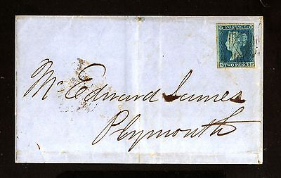 14565-GREAT BRITAIN-OLD COVER LONDON to PLYMOUTH.1854.Two Pence.england.BRITISH.